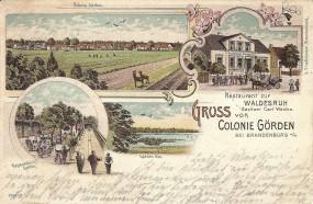 Colonie Görden bei Brandenburg - Restaurant zur Waldesruh Besitzer Carl Wachs, Görden See, Restaurat