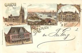 Bremen - Dom, Rathaus, Börse
