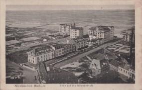 Nordseebad Borkum - Blick auf die trandhotels 1921
