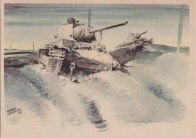 Abgeschossene Sowjetpanzer vor Bely-Werch