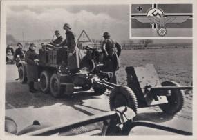 Deutsche Truppen auf dem Vormarsch in Dänemark 1940
