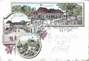 Brühl - Gartenansicht, Hotel Belvédère, Gartenpartie