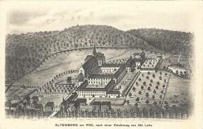 Altenberg um 1700. nach einer Zeichnung von Abt Lohe