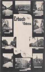 Erbach im Odenwald - Sophienstrasse - Schloss - Hauptstrasse - Rathaus mit Kirche - Graben