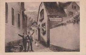 Beim Lindenwirt zu Rüdesheim - Drosselgasse 1929