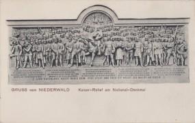 Niederwald - Kaiser-Relief am National-Denkmal 1907