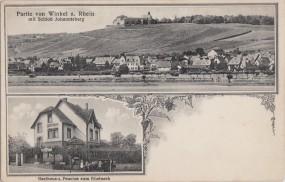 Winkel a. Rhein mit Schloß Johannisberg - Gasthaus und Pension zum Rheineck