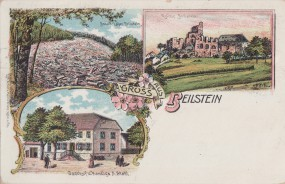 Beilstein - Basalt-Lager - Ruine - Gasthof u. Handlung v. A. Stahl 1905