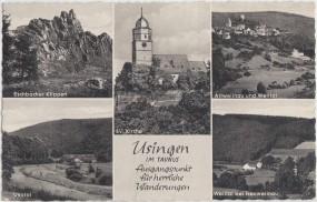 Usingen im Taunus - Eschbacher Klippen - Ev. Kirche - Usatal - Altweilnau und Weiltal 1965