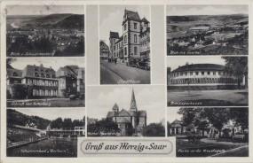 Merzig-Saar - Stadthaus - Schloß von Fallenberg - Kreisparkasse - Schwimmbad Heilborn