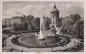 Mannheim - Friedrichsplatz mit Wasserturm 1953