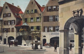 Stuttgart - Altstadt - Hana im Glück-Brunnen 1912