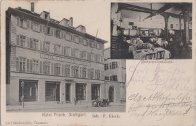 Stuttgart - Hotel Frank - Restaurationslocal 1907