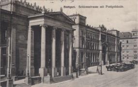 Stuttgart - Schlossstrasse mit Postgbäude 1909