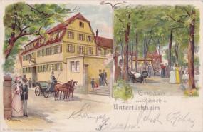 Untertürkheim - Gasthaus Hirsch - sign. G. Schmauk - 1907
