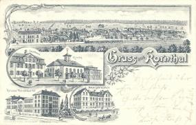 Kornthal - Gasthaus, Kirche, Höheres Töchterinstitut, Neue Lateinschule