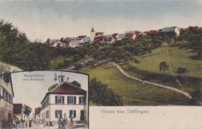 Tailfingen, Hauptstrasse mit Rathaus, 1925