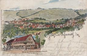 Schnaith im Remstal, Wirtschaft zum Grünen Baum, 1905