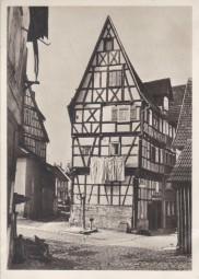 Schorndorf, Spitzgiebel in der Römmelgasse, 1959