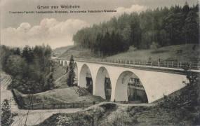 Welzheim - Eisenbahn-Viadukt Laufenmühle-Welzheim 1913