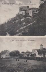 Ruine Rechberg, Hohen Rechberg, Wallfahrtskirche mit Pfarrhaus, 1920
