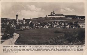 Neresheim mit Abtei, 1950