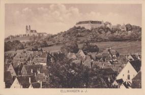 Ellwangen am Jagst, Ort mit Kirche und Schloss