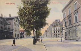 Ludwigsburg - Partie vom Bahnhof - 1910