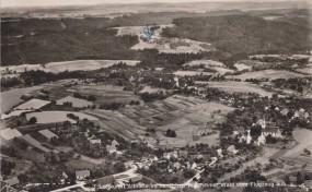 Luftkurort Althütte im herrlichen Welzheimer Wald vom Flugzeug aus, 1956