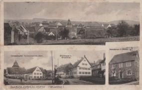 Raboldshausen (Württemberg), Ortsstraße Raboldshausen, Bullinger's Brauerei, Handlung G. Köhler
