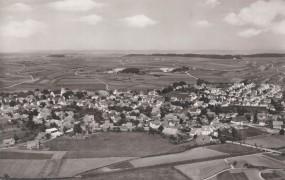 Dunningen im Württemberg vom Flugzeug aus 1971