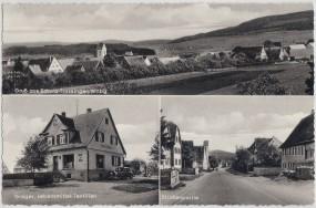 Schura-Trossingen im Württemberg - Gröger Lebensmittel-Textilien - Straßenpartie 1958