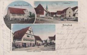 Schopfloch - Möbelfabrik Schübel - Schulhaus - Gasthof zum Ochsen 1906