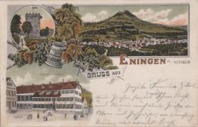 Eningen u. Achalm - Gasthof Traube-Post 1905