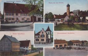Ennabeuren (Alb.) - Gasthaus z. Rössle - Neues Schulhaus - Remontdepot Breithülen 1915