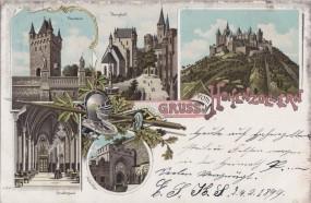 Hohenzollern - Thorturm - Burghof - Grafensaal - Adlerthor 1899