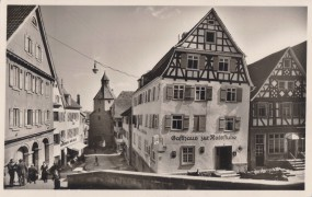 Hechingen - Am Rain beim alten Rathaus - Gasthaus zur Ratsstube