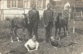 Truchtelfingen - Bild mit vier Kindern und Tieren.