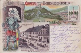 Hohengeroldseck - Ludwigstein - Gasthaus zum Löwen, Schönberg b. Lahr 1900