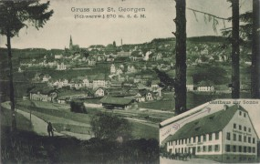 St. Georgen (Schwarzwald) - Gasthaus zur Sonne 1915
