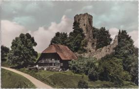 Ruine Waldau bei Königsfeld im Schwarzwald 1968
