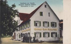 Ehrenstein b. Ulm - Gasthaus zur Quelle - Bes. Andres Hafner