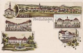 Oberdischingen - Ansicht von Oberdischingen - Gasth. z. Post - Herrengasse - 1902