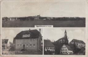 Oggelsbeuren - Kr. Ehingen - Kloster - Gasthaus u. Bäckerei z. Krone, Bes. Max Jörg 1940