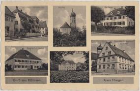 Rißtissen - Kr. Ehingen - Gasthof z. Lamm - Schloß - Rathaus - Brauerei u. Gasth. z. Adler 1942