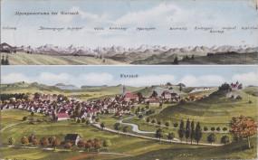 Alpenpanorama bei Wurzach - Wurzach 1920
