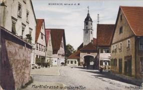 Wurzach - Marktstrasse u. unteres Tor 1933