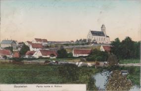 Baustetten - Partie rechts d. Rotturm 1909