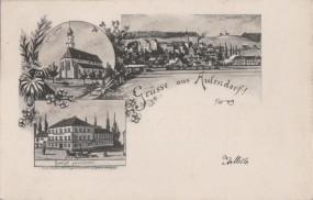 Aulendorf - Kath. Kirche - Gasthof zum Löwen
