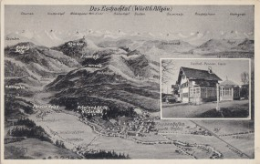 Das Eschachtal (Württb. Allgäu) - Gasthof-Pension Heiss 1954